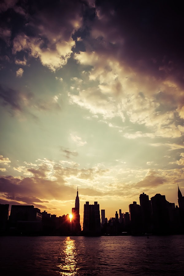 Sunset on New-York City