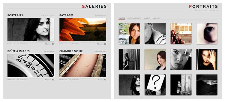 Les galeries sur Sylphire et un exemple avec la galerie Portraits.